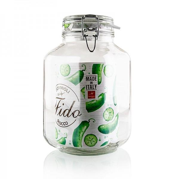 Deli-Vinos Kitchen Accessories - Drahtbügelglas - Bocal 3 Liter 3200 ml quadratisch