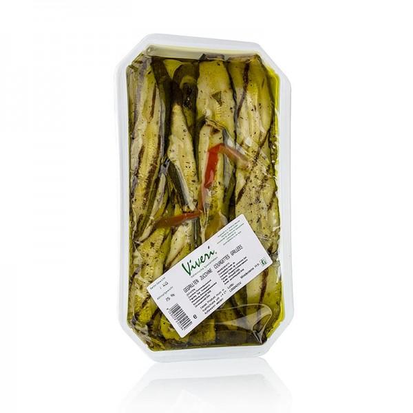 Viveri - Eingelegte Zucchini gegrillt in Sonnenblumenöl