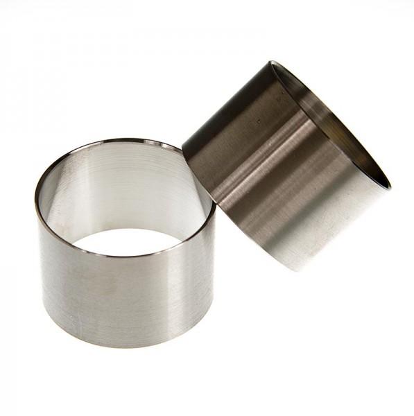 Deli-Vinos Kitchen Accessories - Edelstahlring-Ausstecher glatt ø 5cm 3.6cm hoch 1.3mm stark