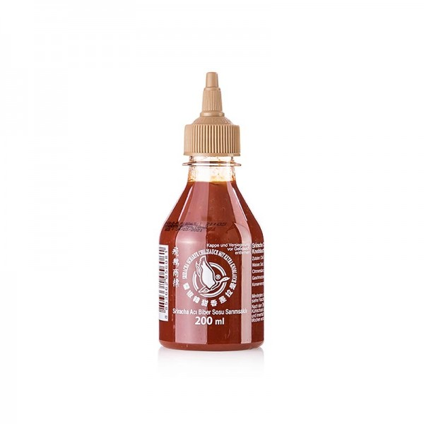 Flying Goose - Chili-Sauce - Sriracha scharf mit Knoblauch Squeeze Flasche Flying Goose