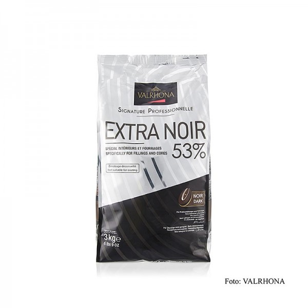 Valrhona - Extra Noir dunkle Couverture Callets 53% Kakao