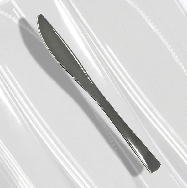 Deli-Vinos Kitchen Accessories - Einweg Silbermesser Kunststoff silberfarben 20cm