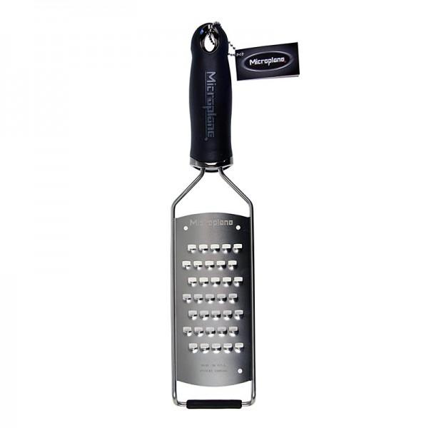 Microplane Gourmet - Gourmet Serie - sehr grobe Reibe Griff schwarz/soft-touch