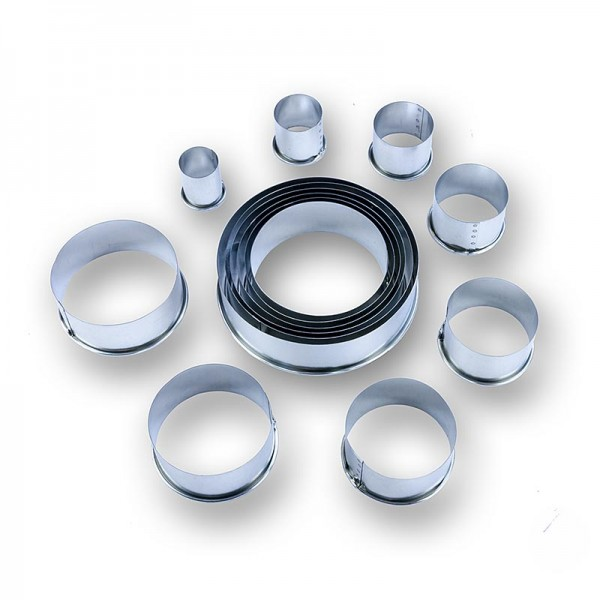 Deli-Vinos Kitchen Accessories - Blechausstecher Set rund glatt ø 2.2 -12cm 3cm hoch