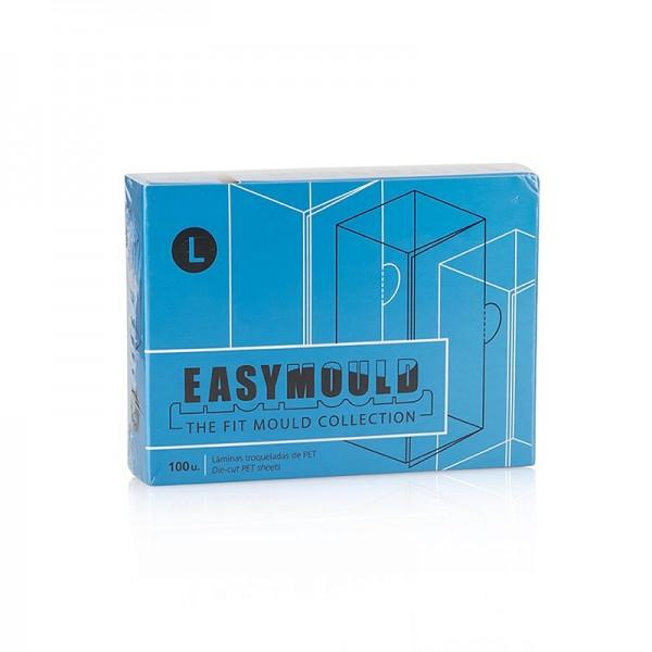 100% Chef - Easymould Cuadrado Folien quadrat ø2x2x8cm 100% Chef (60/0009)