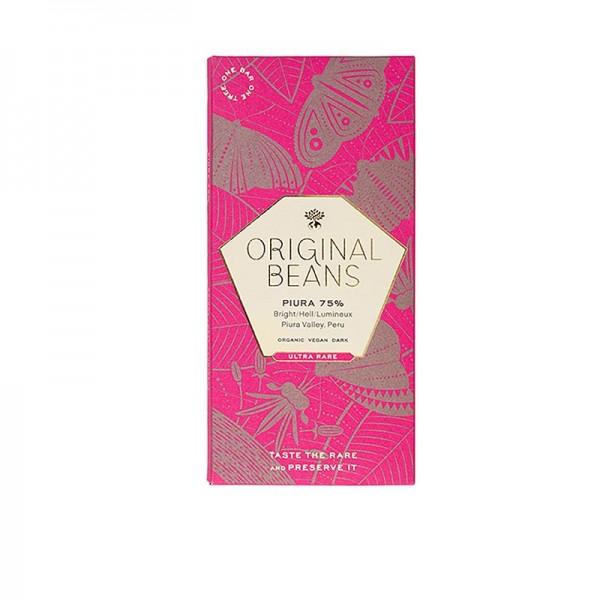 Original Beans - Piura Porcelana Peru 75% Bitter Schokoladentafel Original Beans BIO