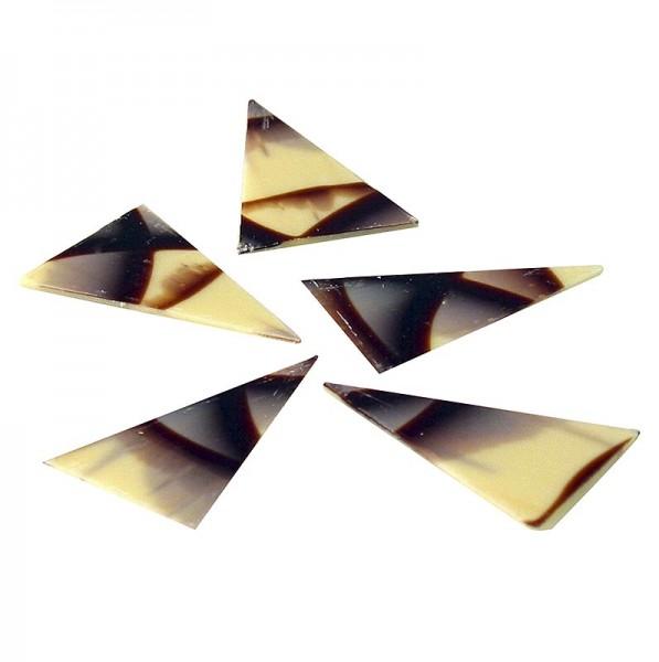 Deli-Vinos Patisserie - Deko-Aufleger Diablo (ehem. Jura) - Dreieck weiße/dunkle Schokolade 35x55mm
