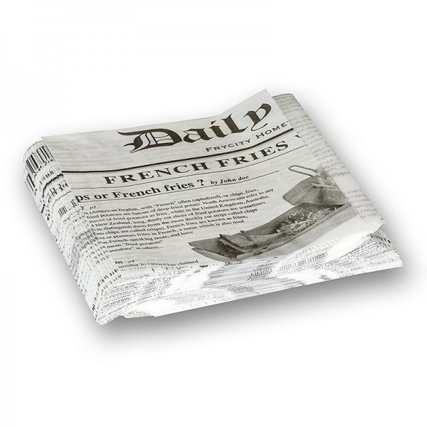 Deli-Vinos Kitchen Accessories - Snack Tüte mit Zeitungspapierdruck ca.130x130mm