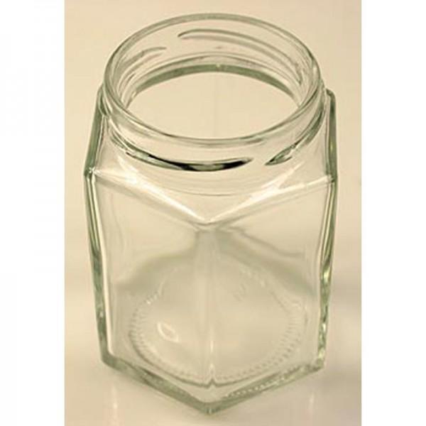 Deli-Vinos Kitchen Accessories - Glas sechseckig 191 ml 58mm Mündung ohne Deckel