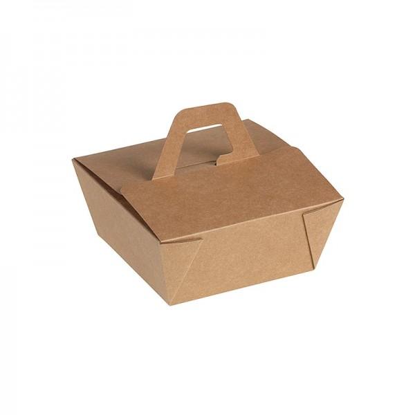 Naturesse - Einweg Naturesse Take Away Box mit Henkel Kraft/PLA 15x15x6.5cm 900ml