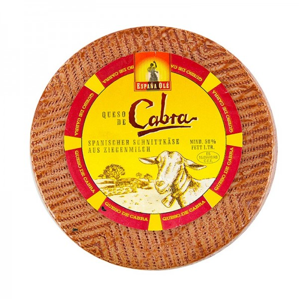 Espana Olé - Queso de cabra - spanischer Ziegenschnittkäse 30 Tage gereift Laib