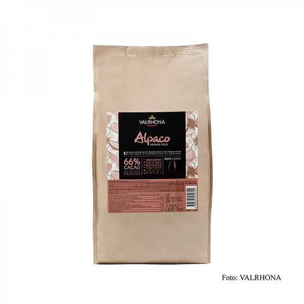 Valrhona - Alpaco Grand Cru dunkle Couverture Callets 66% Kakao Ecuador