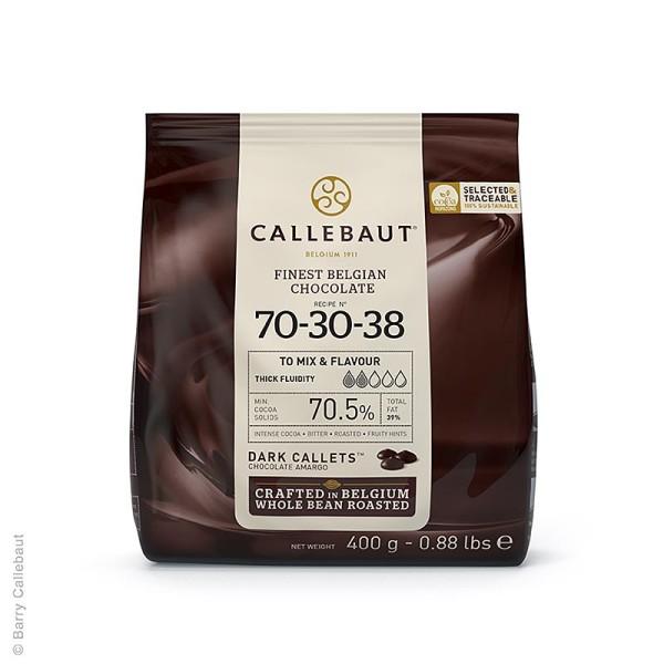 Callebaut - Zartbitter Schokolade (70.5%) Callets Couverture 400g Callebaut (70-30-38)