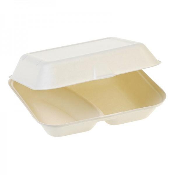 Naturesse - Einweg Naturesse Food Box Klappdeckel 23.5x19.5x7.4cm Zuckerrohr