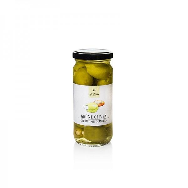 Anemos - Grüne Oliven gefüllt mit Mandeln in Lake ANEMOS