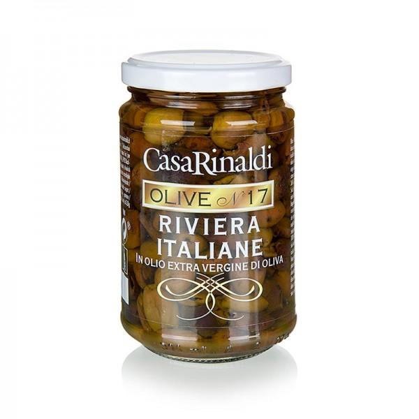 Casa Rinaldi - Schwarze Oliven ohne Kern (Snocciolate) in Olivenöl Casa Rinaldi