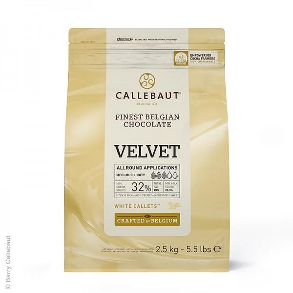 Callebaut - Weiße Schokolade Velvet Callets 33% Kakaobutter 23% Milch