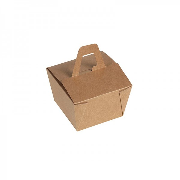 Naturesse - Einweg Naturesse Take Away Box mit Henkel Kraft/PLA 11x11x6.5cm 500ml