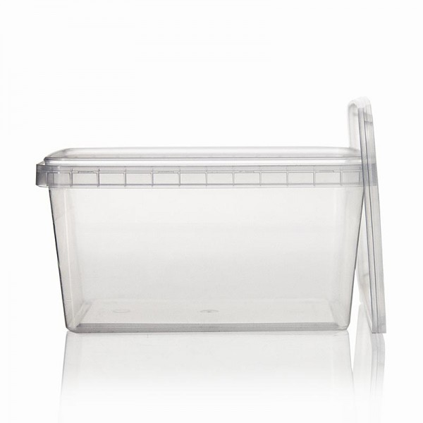 Deli-Vinos Kitchen Accessories - Kunststoffdose RectAcup rechteckig mit Deckel 139x98x71mm 600ml