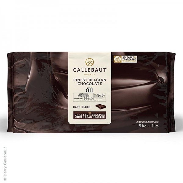 Callebaut - Zartbitterschokolade Block für Pralinen 54.5% Kakao