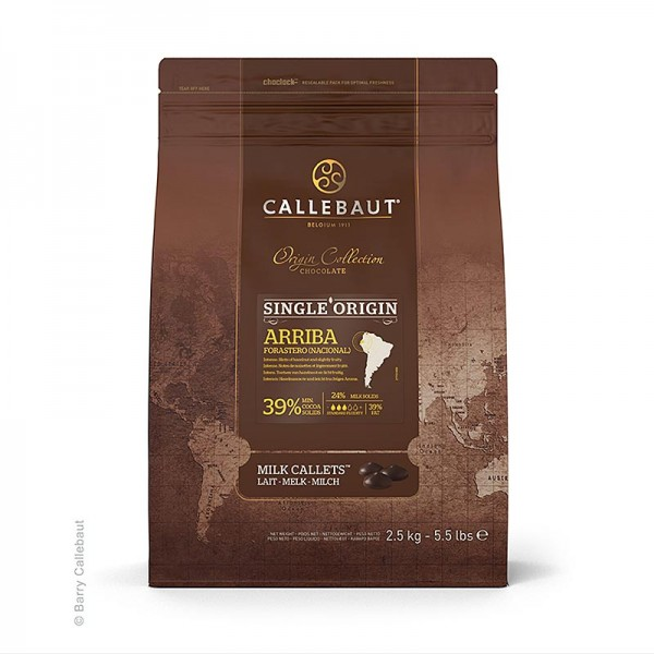 Callebaut - Origine Arriba Vollmilch Couverture Callets 39% Kakao 25.5% Milch