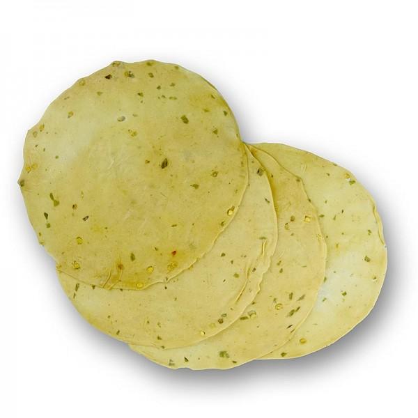 Deli-Vinos Convenient - Pappadums mit grünen Chilis gewürzt ca. ø 18cm