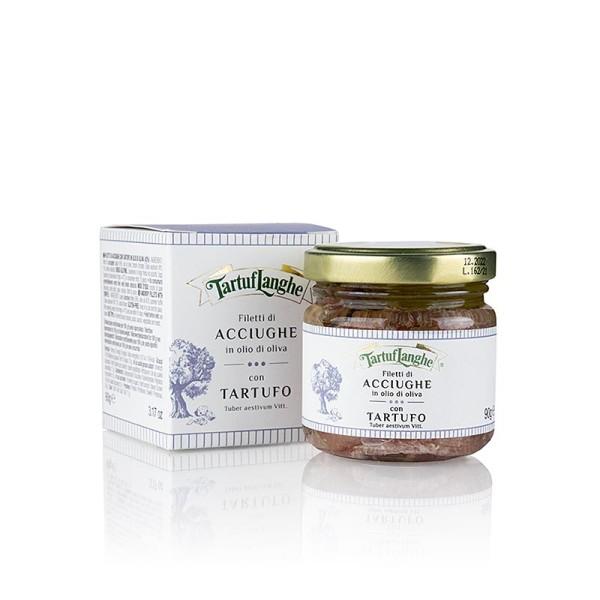 Tartuflanghe - TARTUFLANGHE Sardellenfilets mit Sommertrüffel in Olivenöl