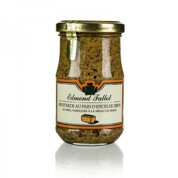 Fallot - Dijon Senf mit Gewürzbrot und Honig grob Fallot