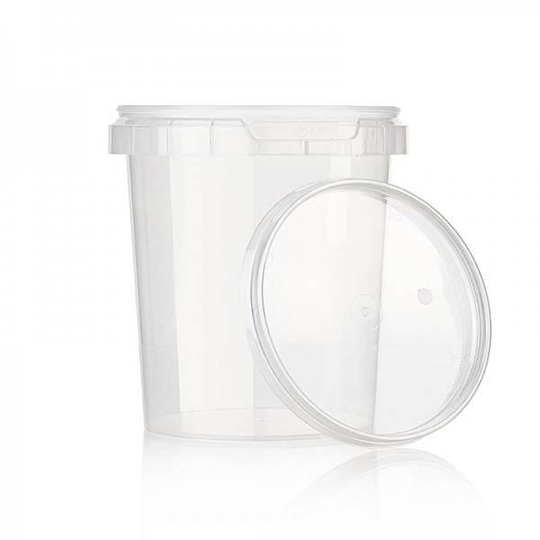 Deli-Vinos Kitchen Accessories - Kunststoffdose Circlecup rund mit Deckel ø 117x128mm 870ml
