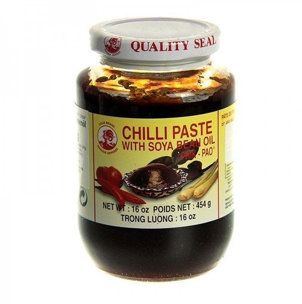 Cock Brand - Chili-Paste - Nam Prik Pao mit Sojabohnenöl Cock Brand