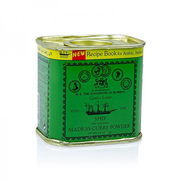 Poonjiaji - Curry Pulver Madras grüne Dose Poonjiaji