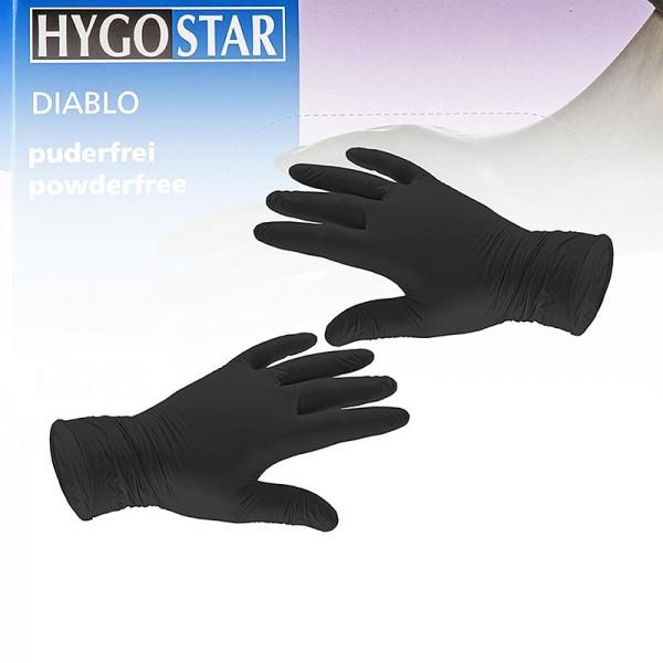 Black Diablo - Einweghandschuhe schwarz Gr. S aus Latex ungepudert im Caddy
