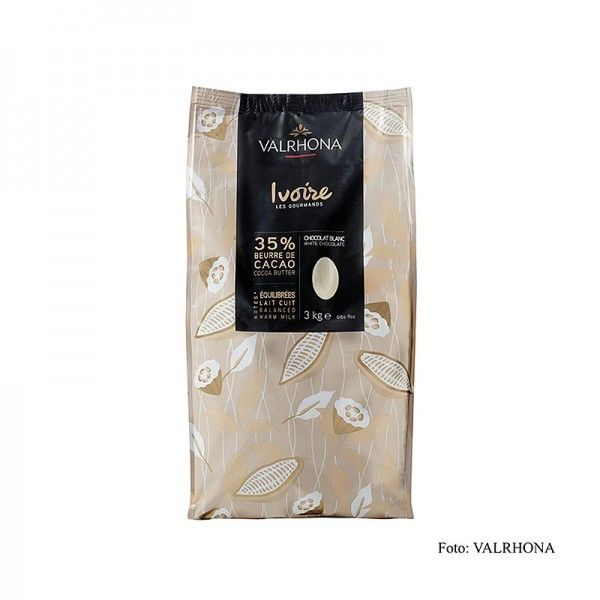 Valrhona - Ivoire weiße Couverture Callets 35% Kakaobutter