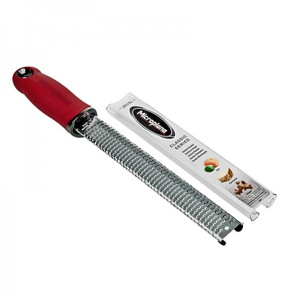 Microplane Premium Classic - Premium Classic - Stab Zesten Reibe Griff rot/soft-touch