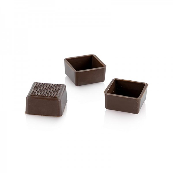 Läderach - Karreeschalen Zartbitterschokolade 24/25mm Läderach