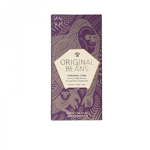 Original Beans - Cru Virunga Kongo 70% Dunkel Schokoladentafel Original Beans BIO
