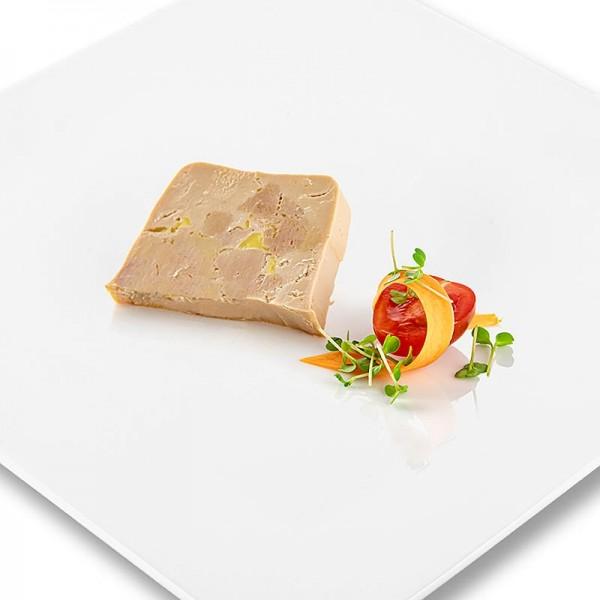 Rougie - Entenleberblock mit Stücken Trapez Halbkonserve 98% Foie Gras Rougié