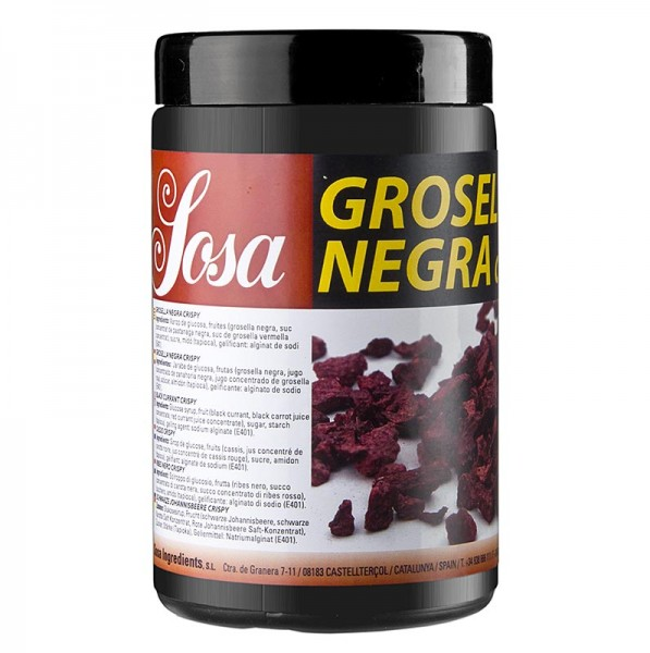 Sosa - Crispy - Schwarze Johannisbeeren/Cassis gefriergetrocknet