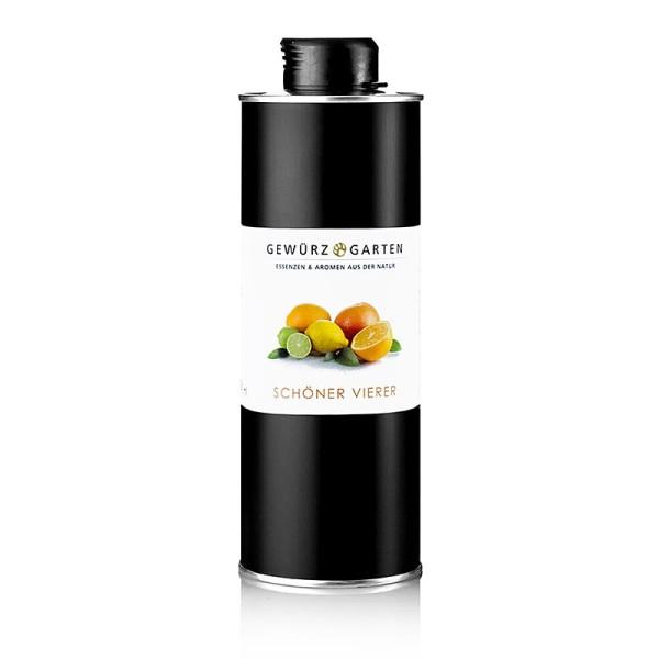 Gewürzgarten Selection - Gewürzgarten Schöner Vierer Orange/Limette/Zitronengrasöl in Olivenöl