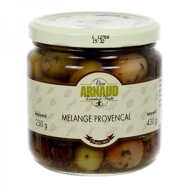 Arnaud - Oliven Mischung Melange Provencal mit Kern mit Thymian in Lake Arnaud