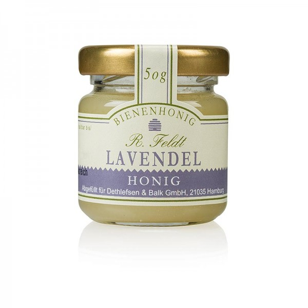 R. Feldt Bienenhonig - Lavendel-Honig Frankreich weiß cremig vollblumig Portionsglas