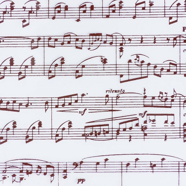 Deli-Vinos Patisserie - Dekor-Abziehfolie Musiknoten-Blatt für Schokolade 40x25cm