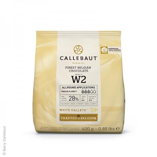 Callebaut - Weiße Schokolade (28%) Callets 400g Callebaut (W2-E0-D94)