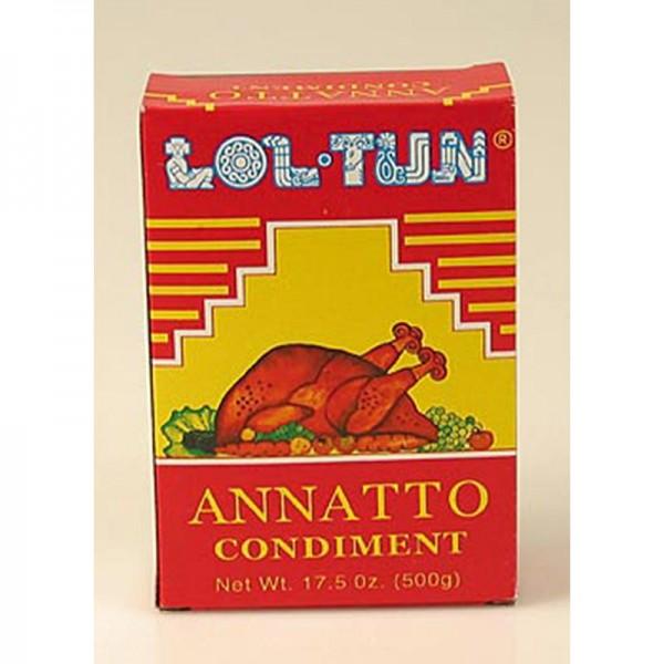 Loltun - Achiotegewürz/-paste aus Orleanssamen (Anatto)