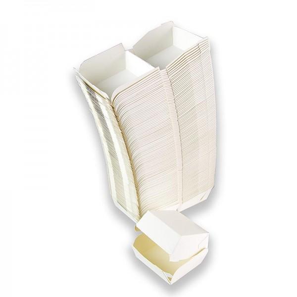 100% Chef - Hamburger Pappboxen weiß 90x80x50mm 100% Chef