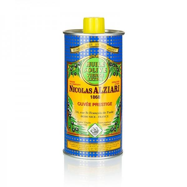 Alziari - Olivenöl Extra Vierge Fruité Douce mild Alziari blau-gelbe Dose