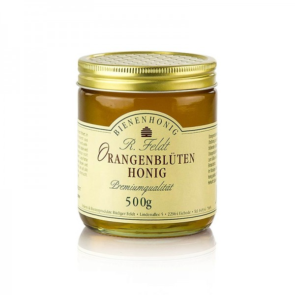 R. Feldt Bienenhonig - Orangenblüten-Honig Spanien goldfarben flüssig lieblich