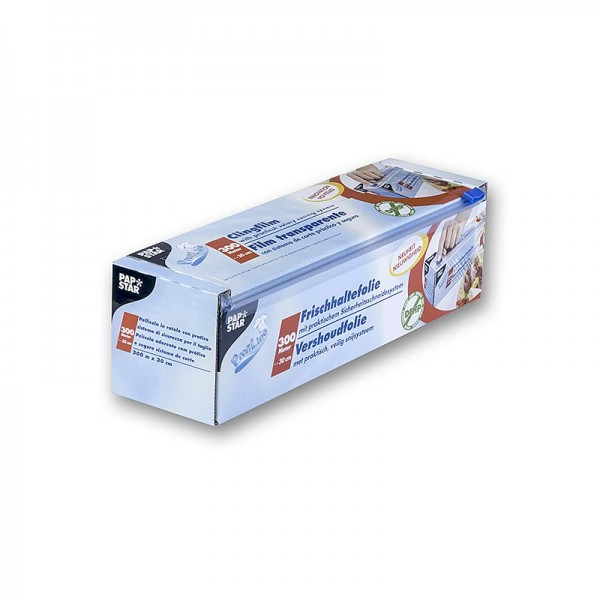 Papstar - Frischhaltefolie aus PVC mit Schneidesystem 30cm x 300m Papstar
