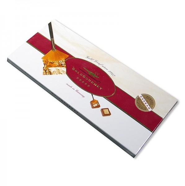 Goldgourmet - Gold - Set 12x Blattgold 50x50mm 22 Karat Pinsel E175