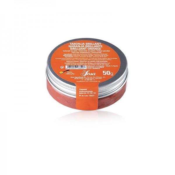 Sosa - Lebensmittelfarbe orange brilliant wasserlösliches Puder